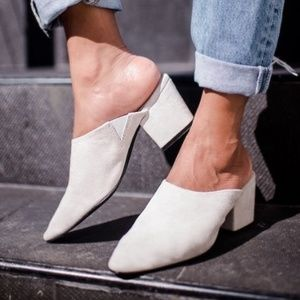 Urban Outfitters Becky Suede mules women's size 9
